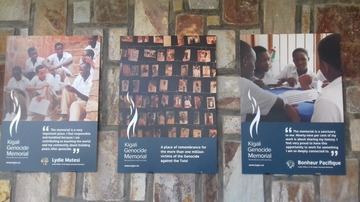 Poster on the walls of the Kigali Genocide Memorial